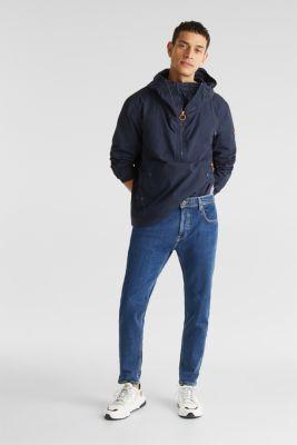 Vintage wash stretch jeans, BLUE DARK WASH, detail