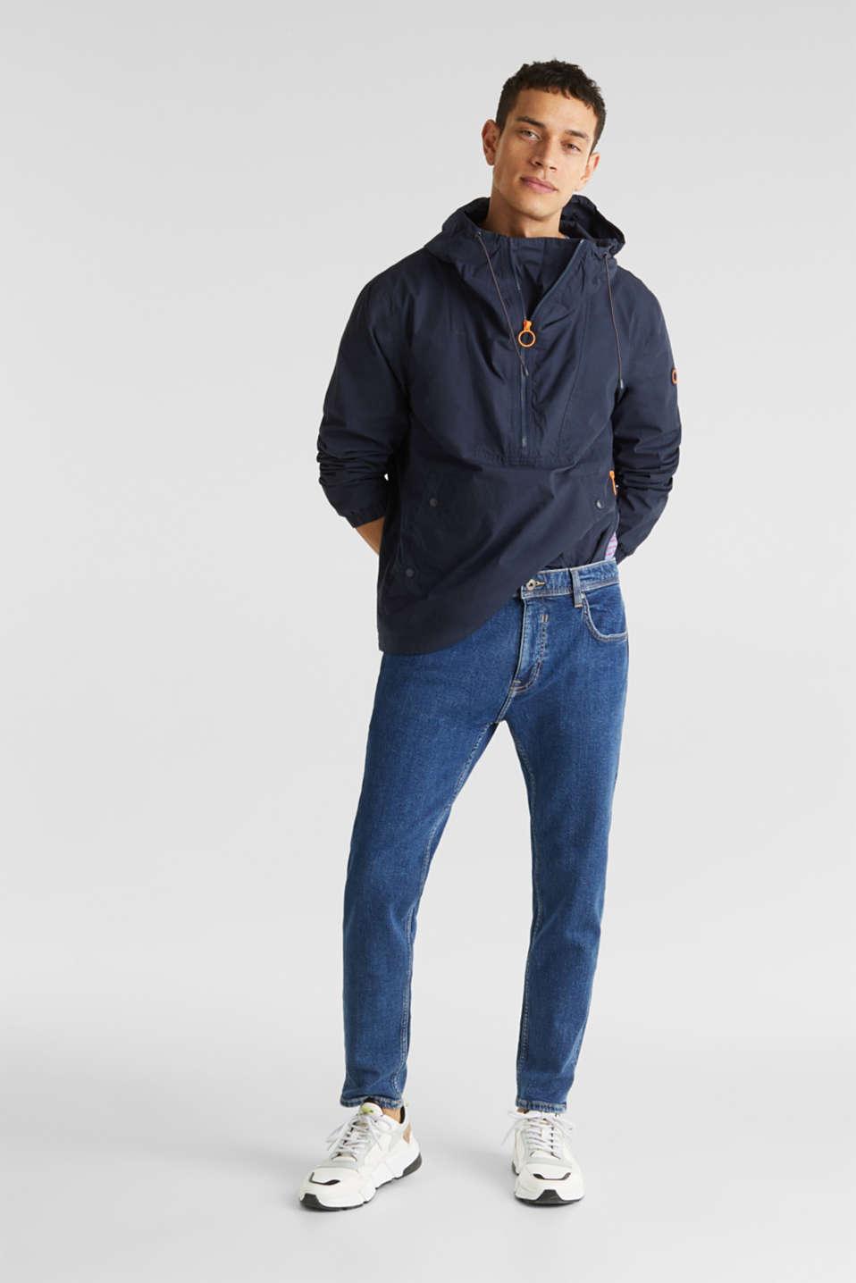 Vintage wash stretch jeans, BLUE DARK WASH, detail image number 2