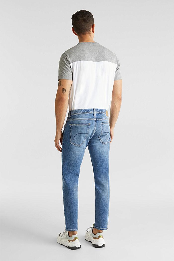 Vintage wash stretch jeans, BLUE MEDIUM WASHED, detail image number 1