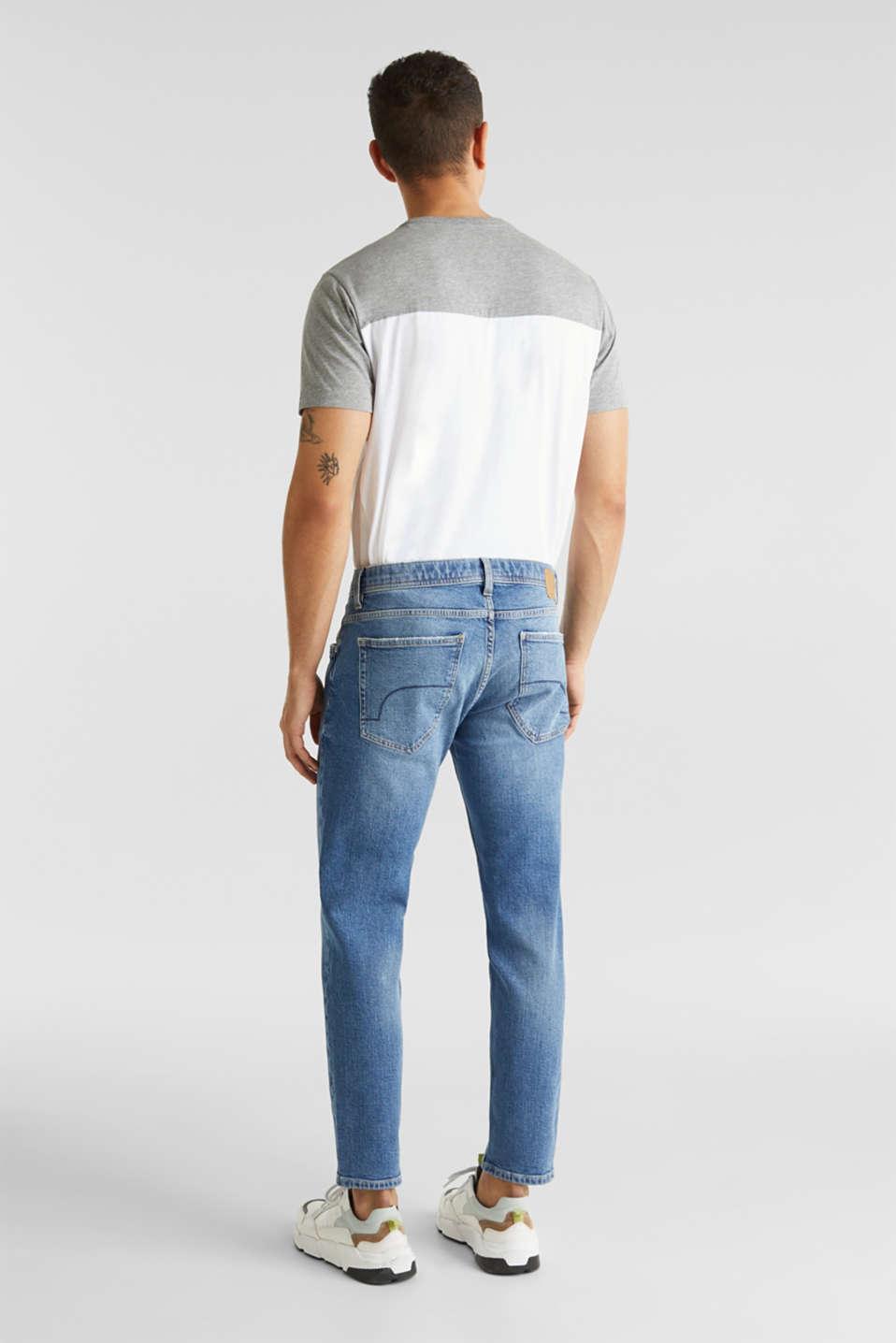 Vintage wash stretch jeans, BLUE MEDIUM WASH, detail image number 1