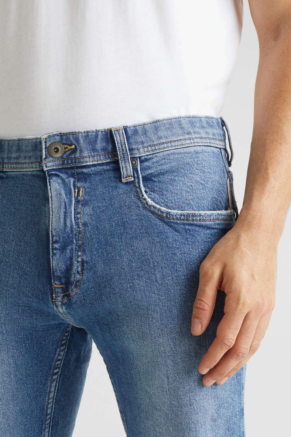 Vintage wash stretch jeans, BLUE MEDIUM WASH, detail image number 3