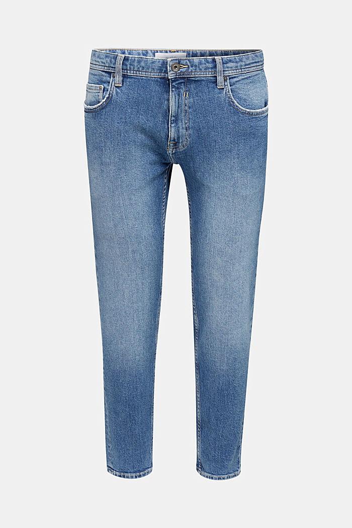 Vintage wash stretch jeans, BLUE MEDIUM WASHED, detail image number 6