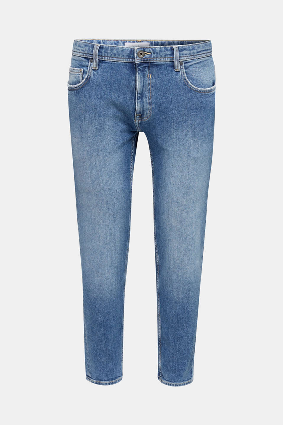 Vintage wash stretch jeans, BLUE MEDIUM WASH, detail image number 6