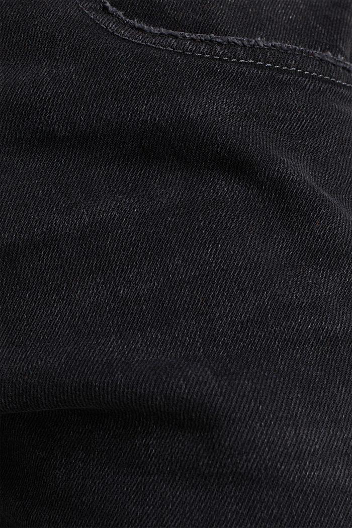 Stretchjeans met washed-out effect, BLACK MEDIUM WASHED, detail image number 4