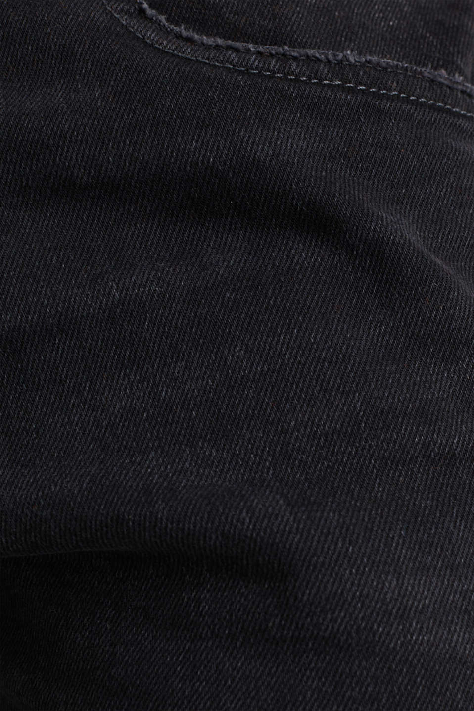 Stretch jeans with washed-out effects, BLACK MEDIUM WASH, detail image number 4