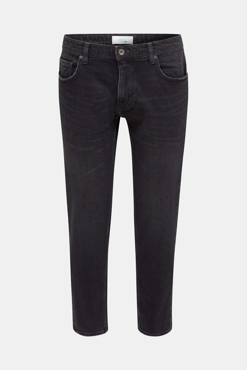 Stretch jeans with washed-out effects, BLACK MEDIUM WASH, detail image number 6