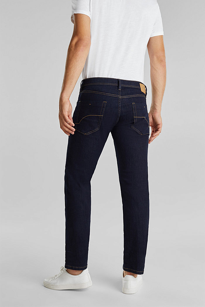 Basic jeans with stretch, BLUE RINSE, detail image number 0