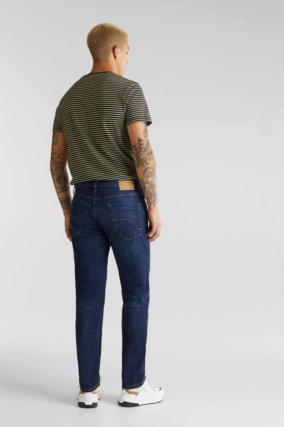 Basic jeans with stretch, BLUE DARK WASH, detail image number 1