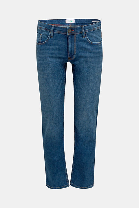 Stretch jeans with washed-out effects