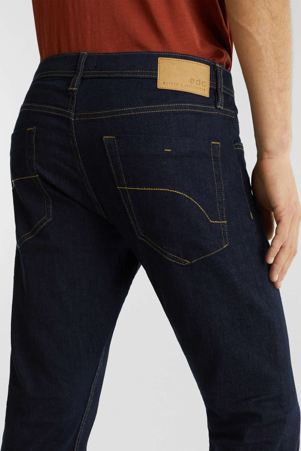 Stretch jeans in a basic design, BLUE RINSE, detail image number 5