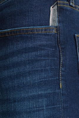 Stretch jeans in a basic design, BLUE DARK WASH, detail