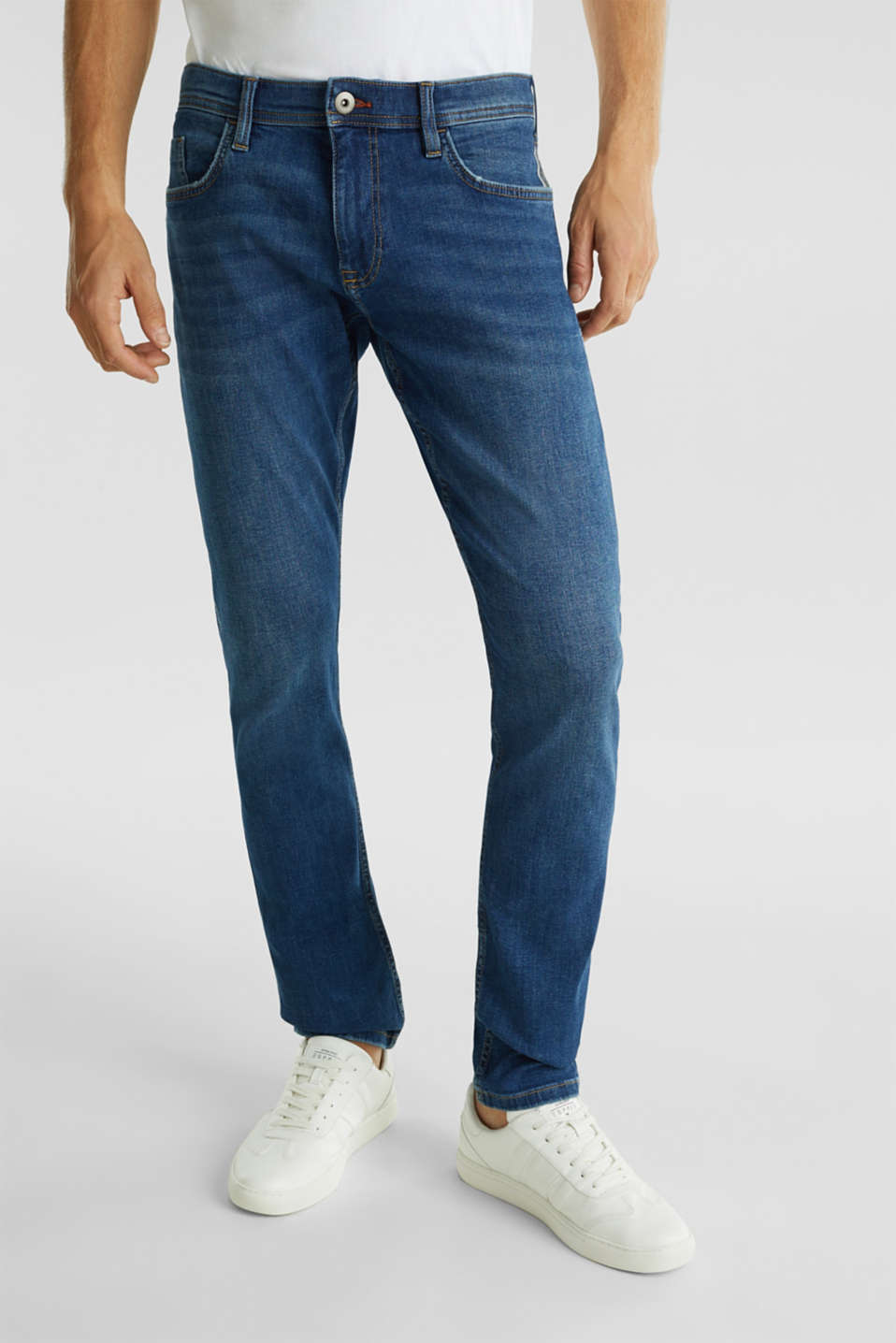 edc - Stretchjeans met used-wassing