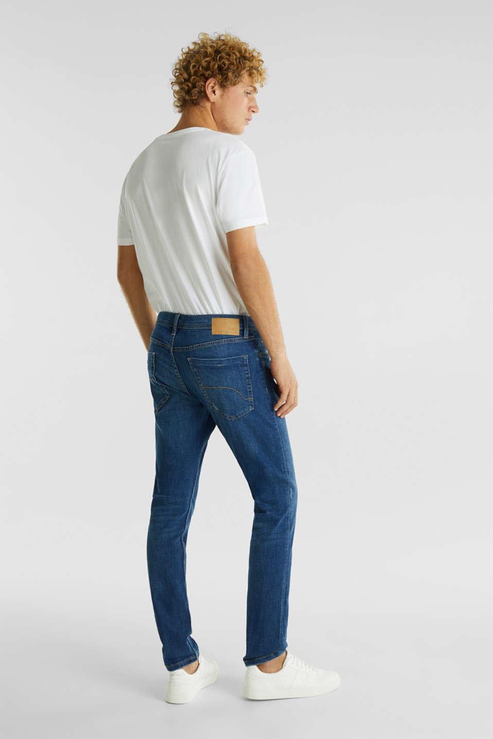 Stretch jeans in a basic design, BLUE MEDIUM WASH, detail image number 1