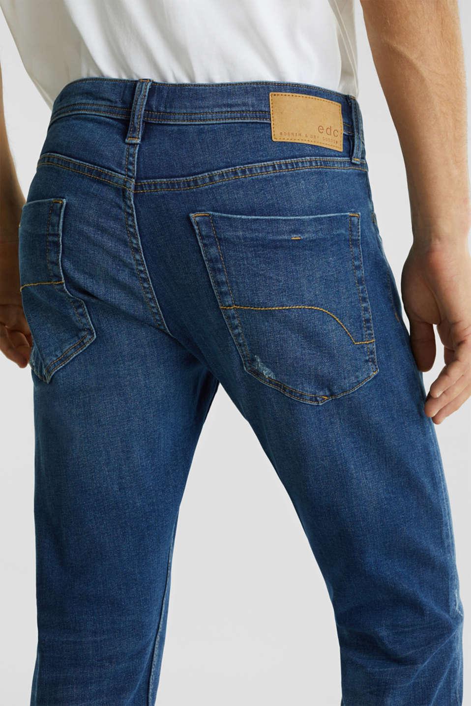 Stretch jeans in a basic design, BLUE MEDIUM WASH, detail image number 5