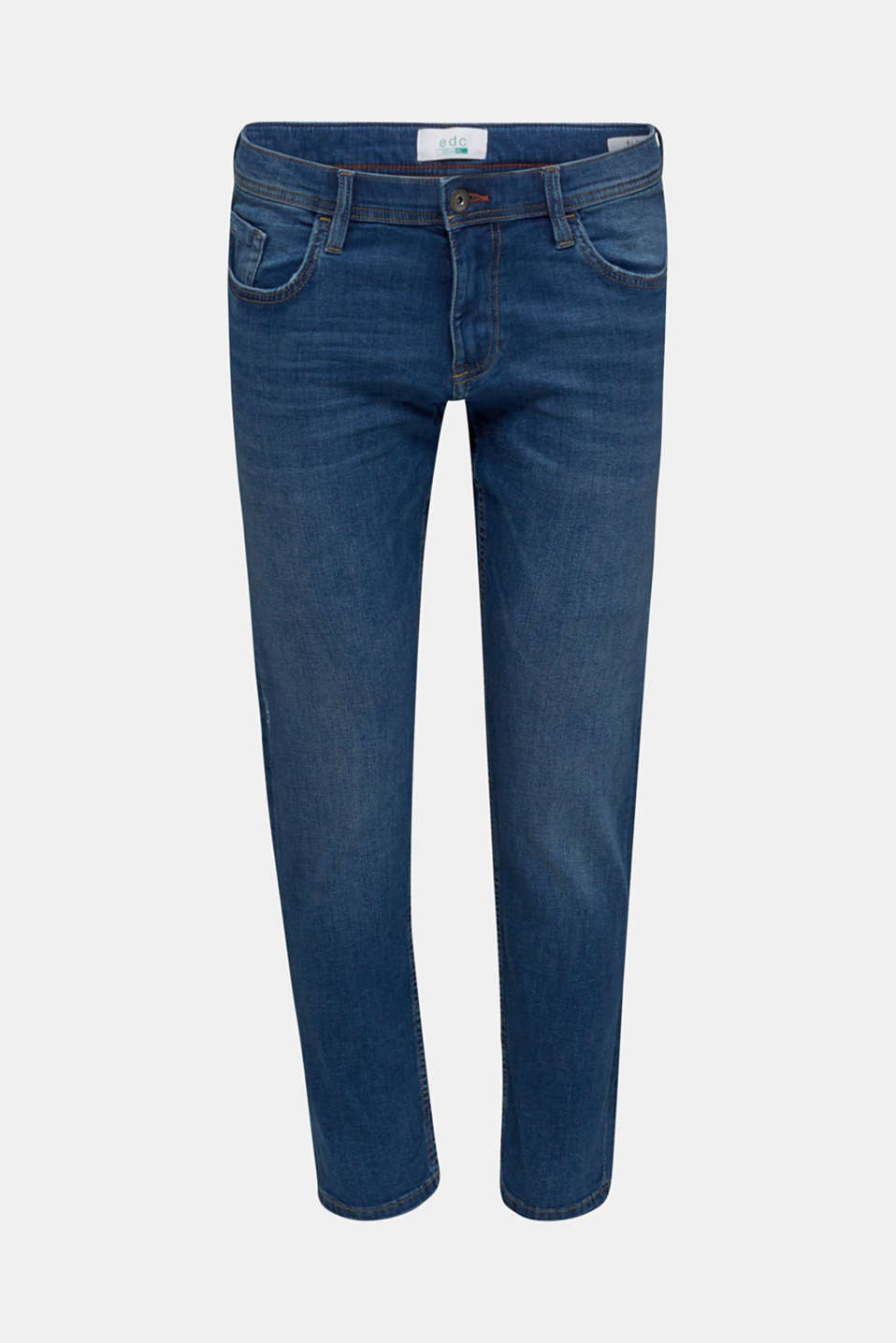 Stretch jeans in a basic design, BLUE MEDIUM WASH, detail image number 6