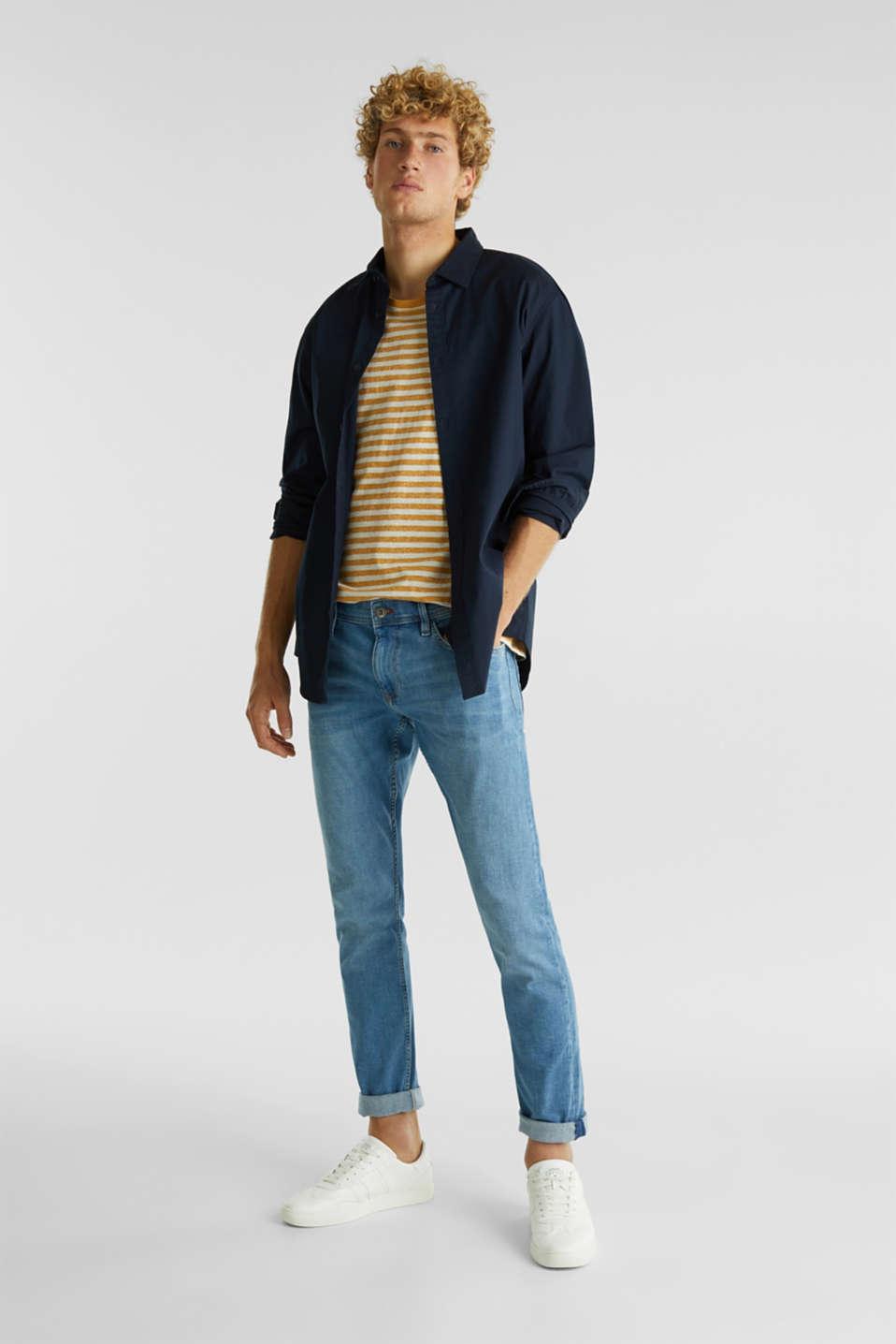 Stretch jeans in a basic design, BLUE LIGHT WASH, detail image number 2