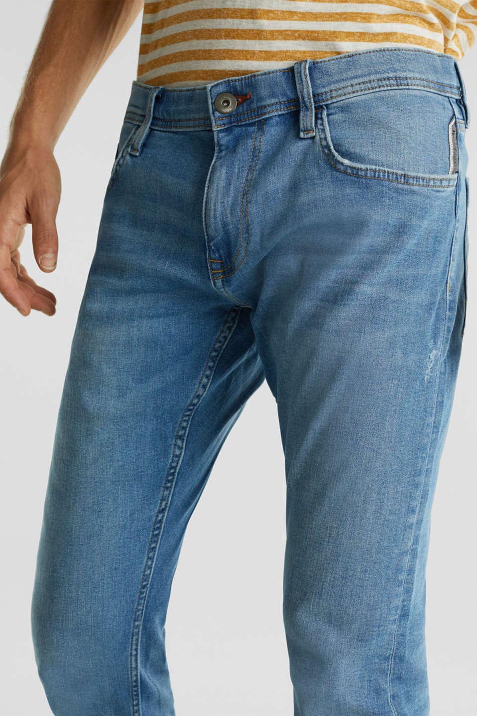 Stretch jeans in a basic design, BLUE LIGHT WASH, detail image number 3