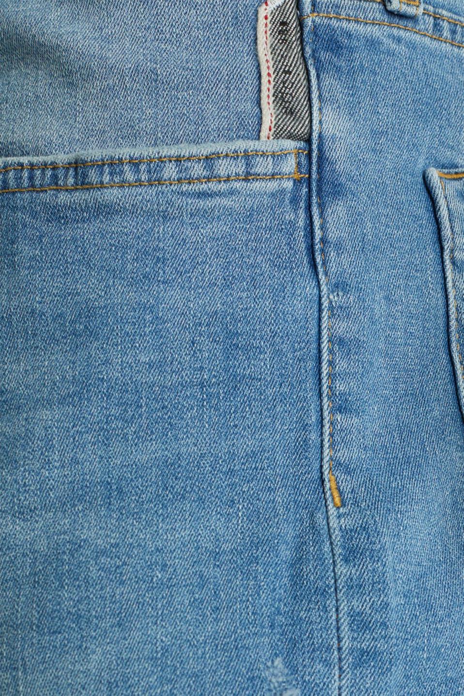 Stretch jeans in a basic design, BLUE LIGHT WASH, detail image number 4