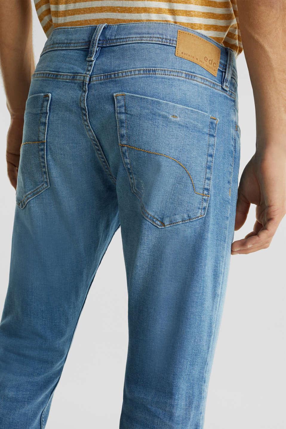 Stretch jeans in a basic design, BLUE LIGHT WASH, detail image number 5