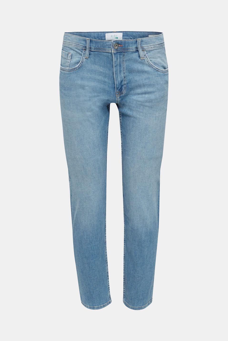 Stretch jeans in a basic design, BLUE LIGHT WASH, detail image number 6