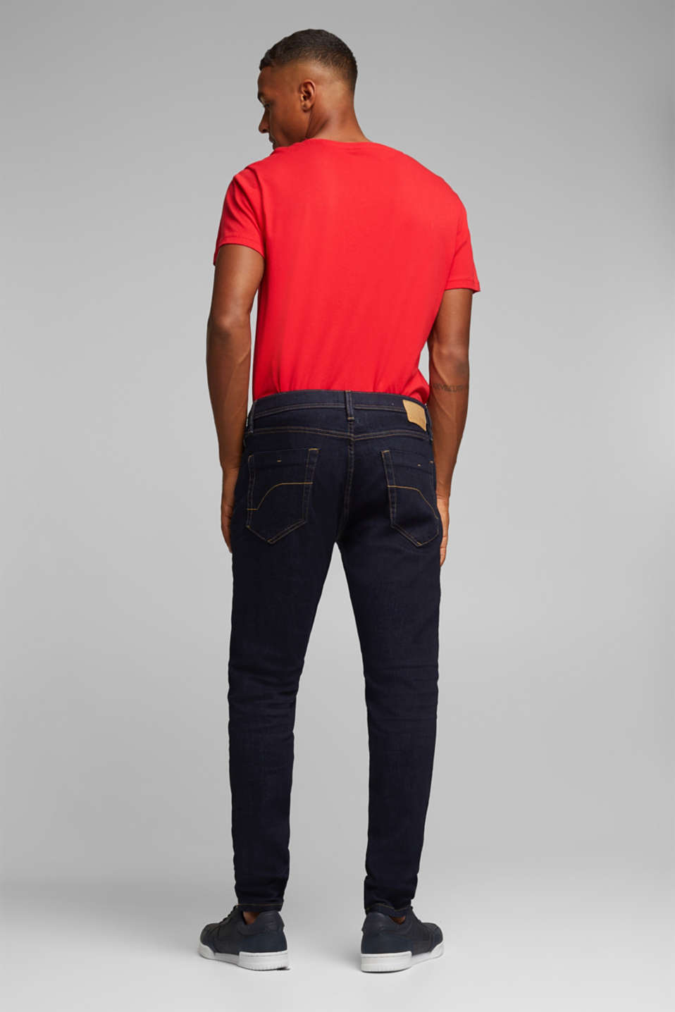 Stretch jeans in a basic design, BLUE RINSE, detail image number 1