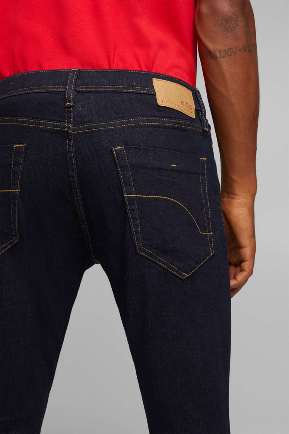 Stretch jeans in a basic design, BLUE RINSE, detail image number 6