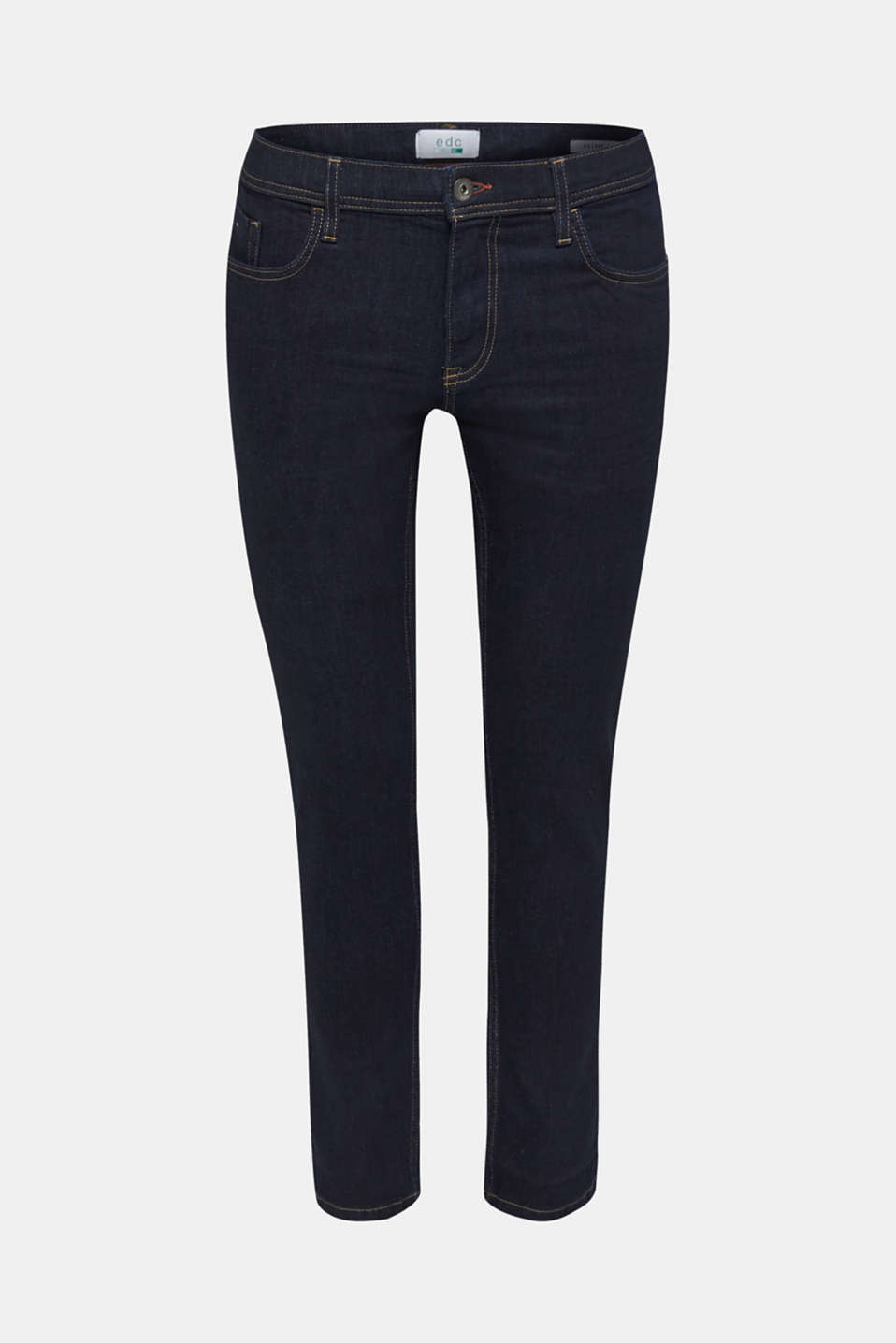 Stretch jeans in a basic design, BLUE RINSE, detail image number 7