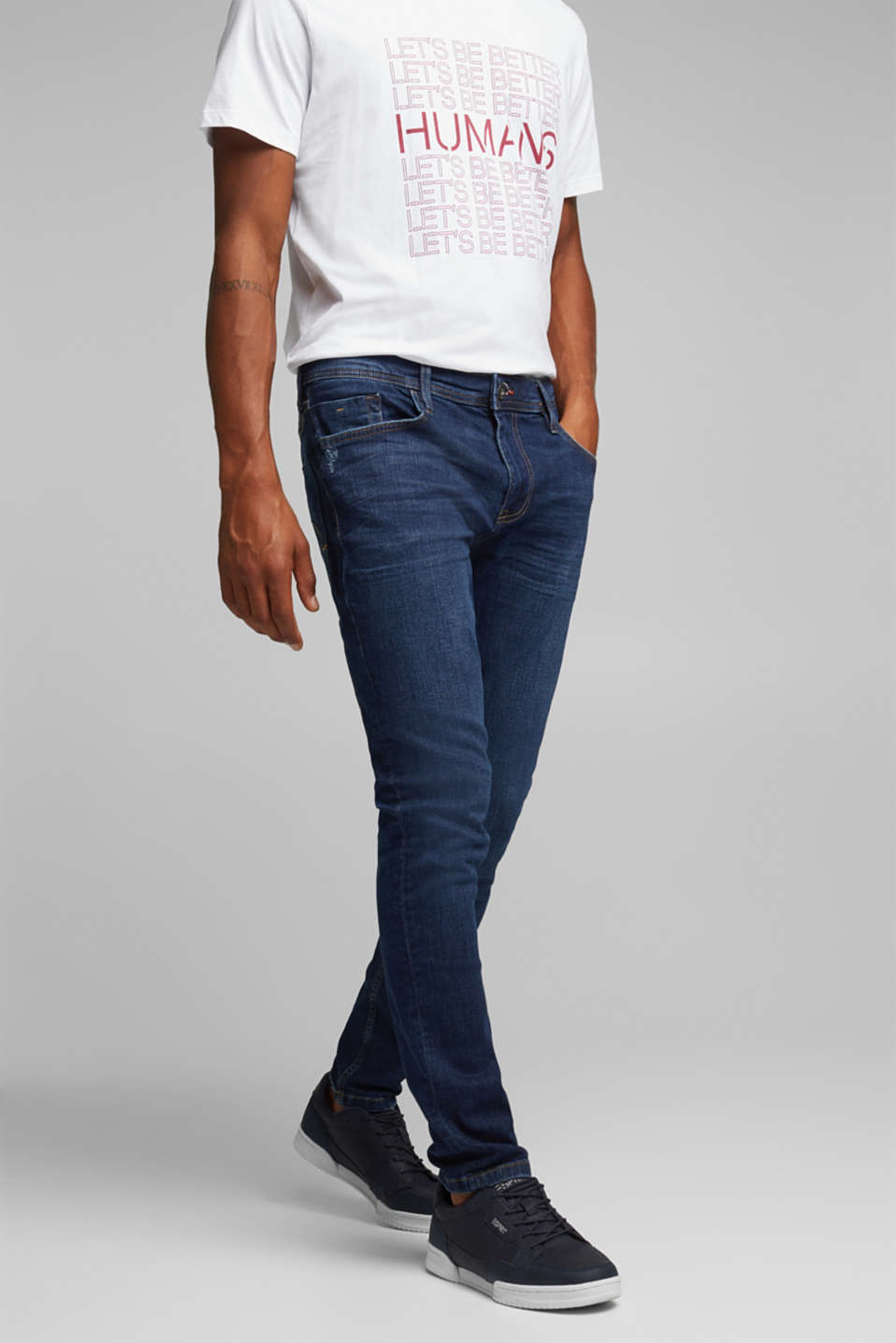 edc - Stretchjeans i basis-look