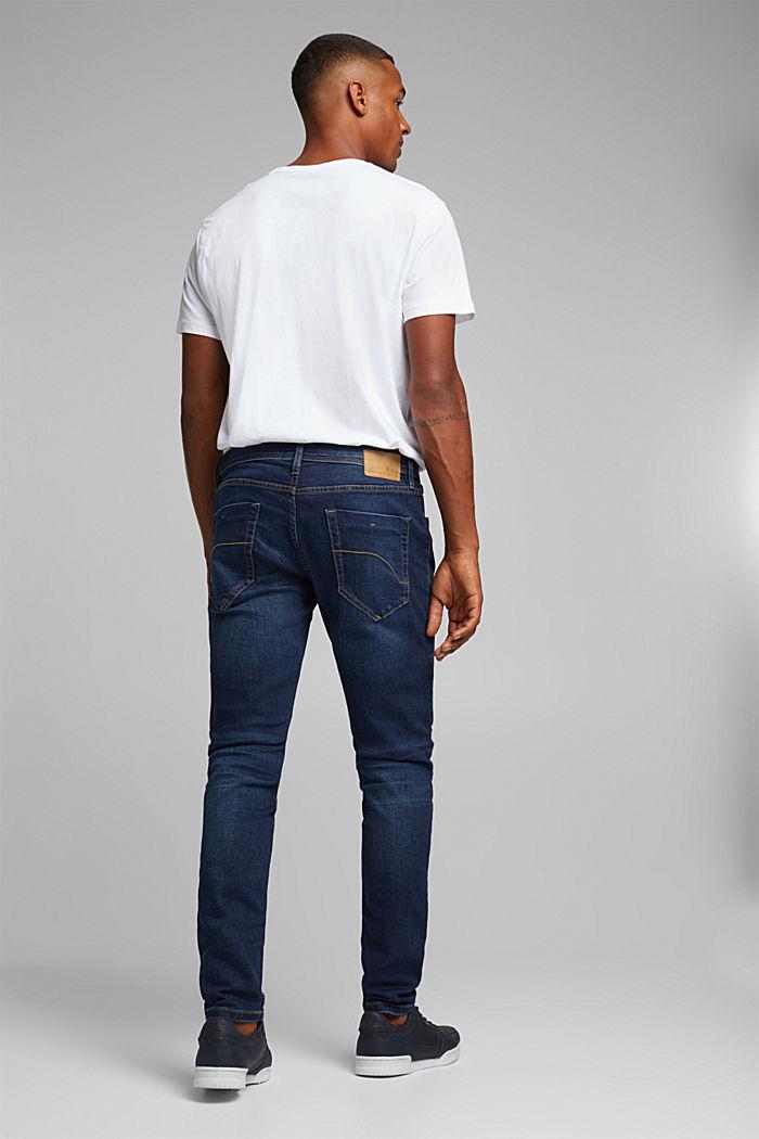 Stretch-Jeans im Basic-Look, BLUE DARK WASHED, detail image number 1