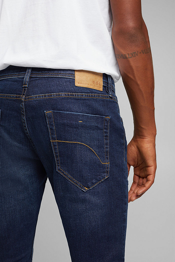 Stretch-Jeans im Basic-Look, BLUE DARK WASHED, detail image number 5