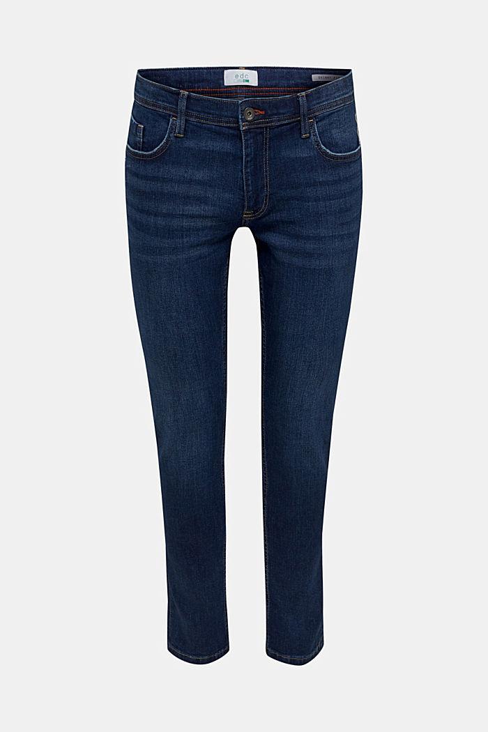 Stretch-Jeans im Basic-Look, BLUE DARK WASHED, detail image number 6