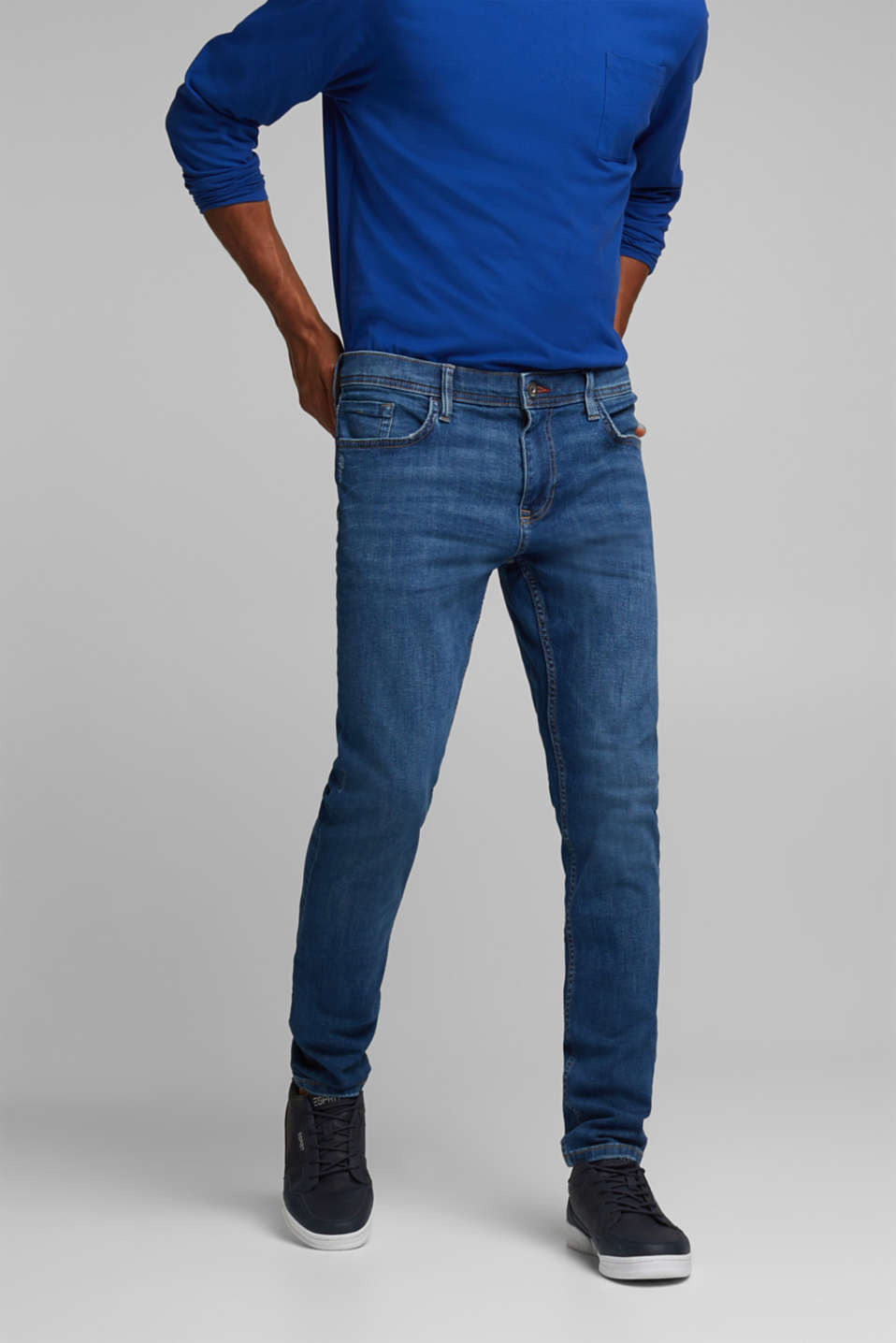 edc - Stretch-Jeans im Basic-Look