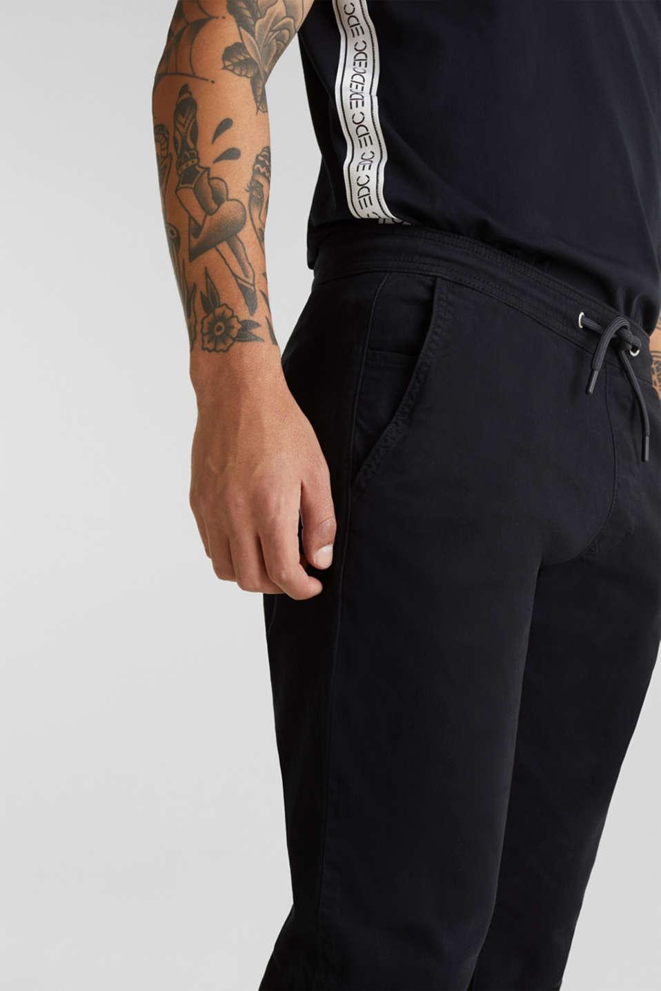 Twill tracksuit bottoms, BLACK, detail image number 2