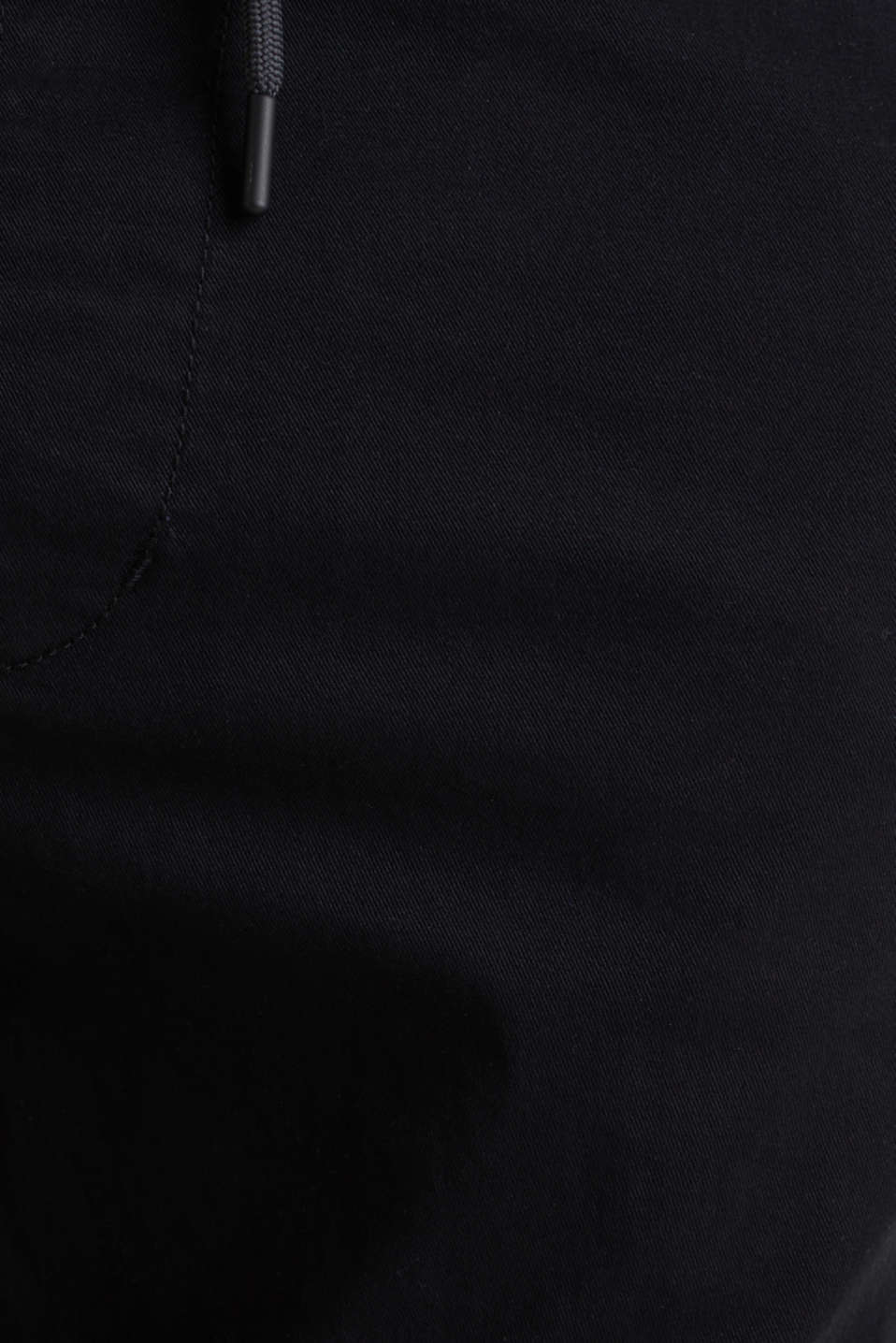 Tracksuit bottoms in twill 100% cotton, BLACK, detail image number 4