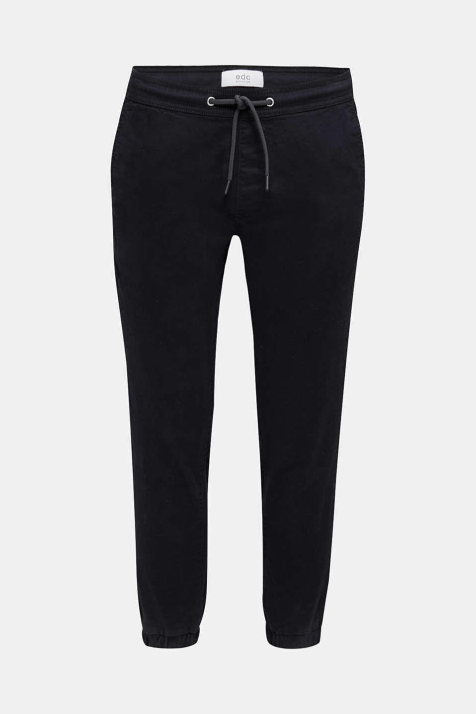 Tracksuit bottoms in twill 100% cotton, BLACK, detail image number 7