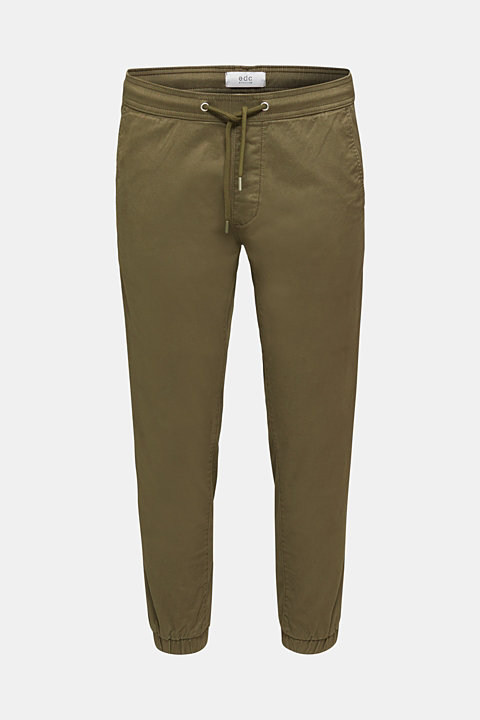 Tracksuit bottoms in twill 100% cotton