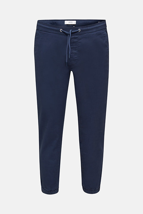 Twill tracksuit bottoms