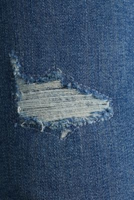 Distressed stretch jeans, BLUE MEDIUM WASH, detail