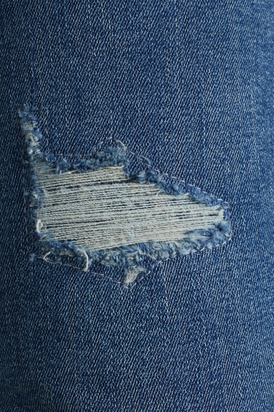 Distressed stretch jeans, BLUE MEDIUM WASH, detail image number 4