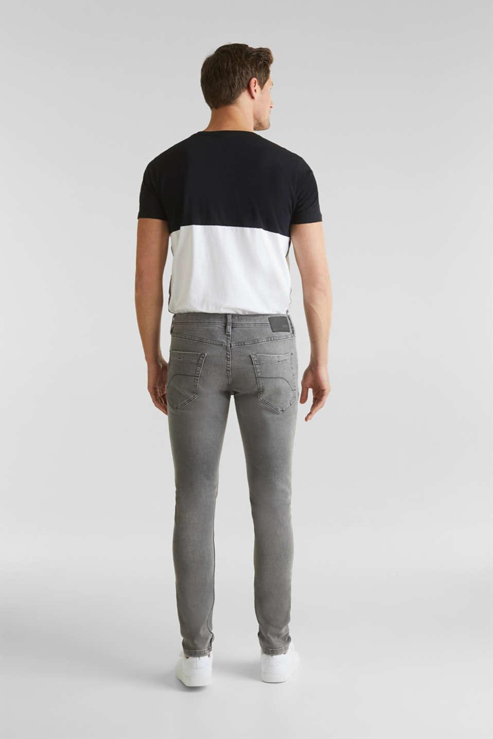 Distressed stretch jeans, GREY MEDIUM WASH, detail image number 1