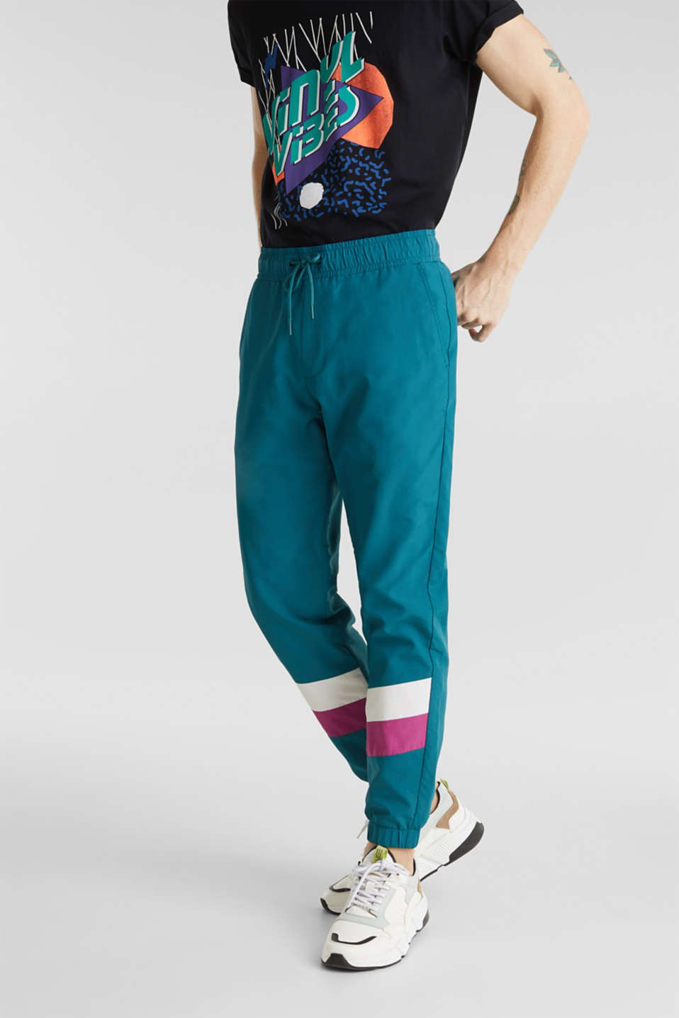 edc - Retro nylon tracksuit bottoms