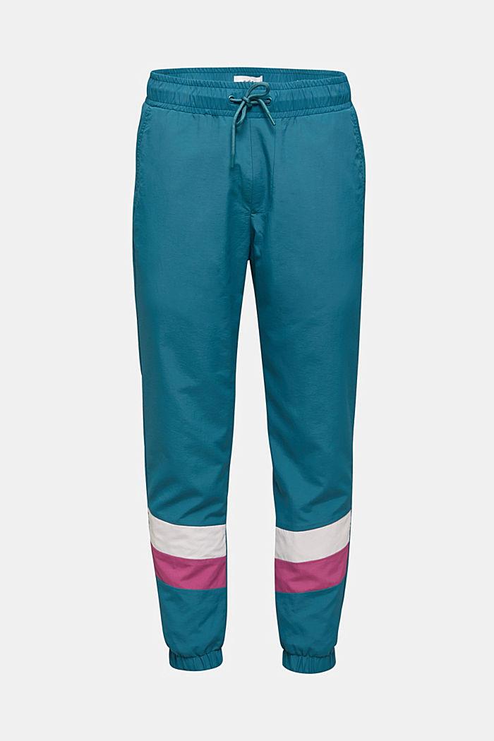 Retro-Track-Pants aus Nylon, DARK TEAL GREEN, detail image number 0