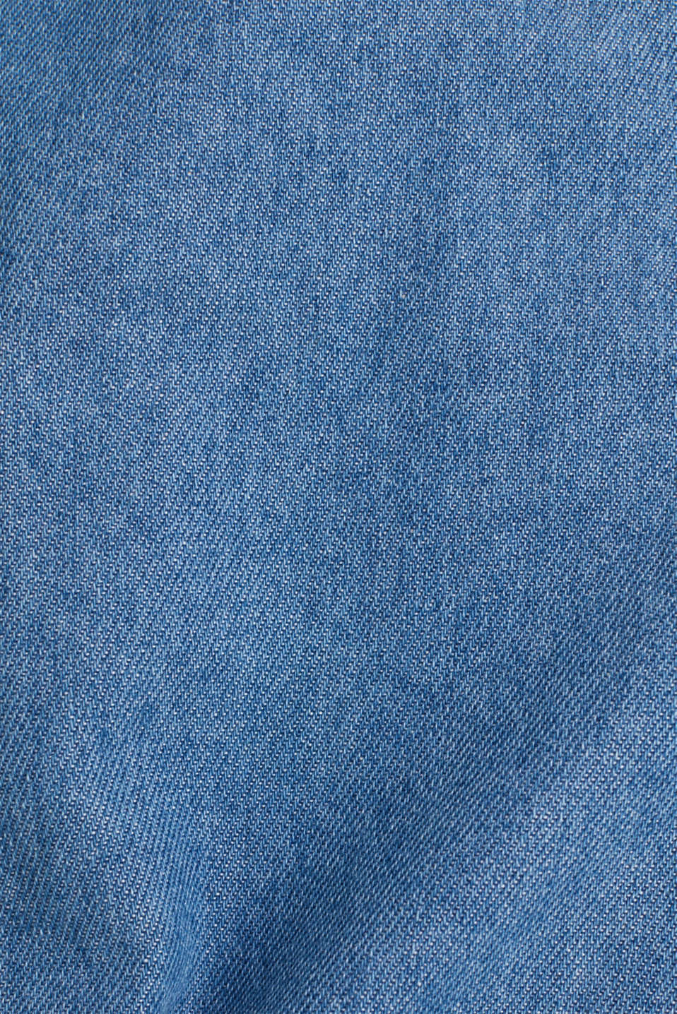 Denim shirt in 100% cotton, BLUE MEDIUM WASH, detail image number 3