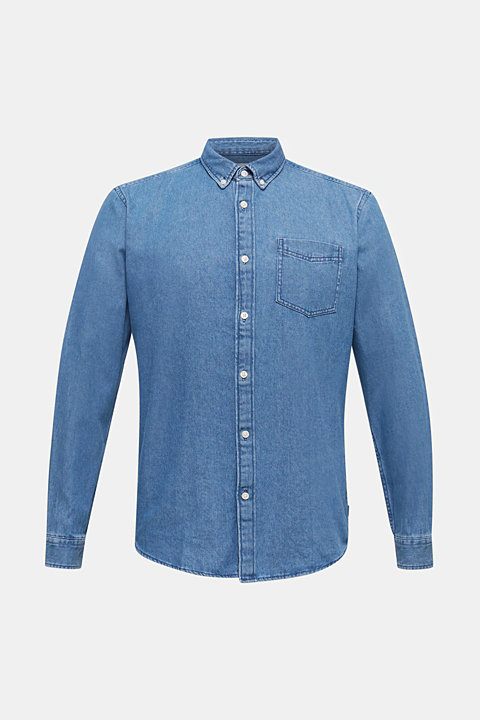 Denim shirt in 100% cotton