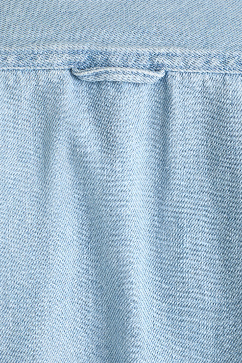 Denim shirt in 100% cotton, BLUE LIGHT WASH, detail image number 4