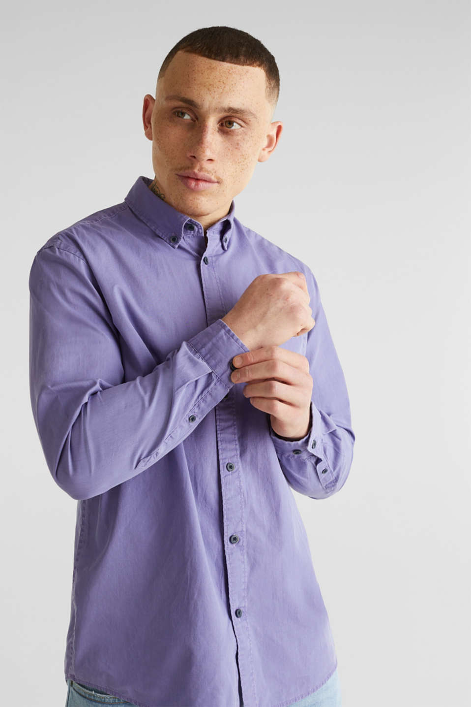 100% cotton shirt, PURPLE 2, detail image number 6