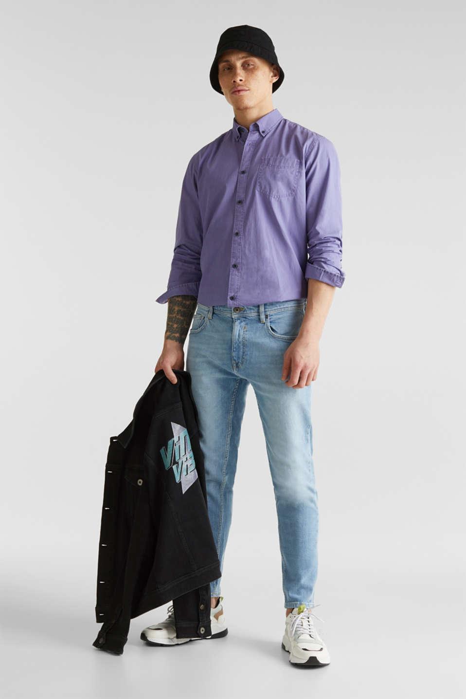 100% cotton shirt, PURPLE 2, detail image number 1