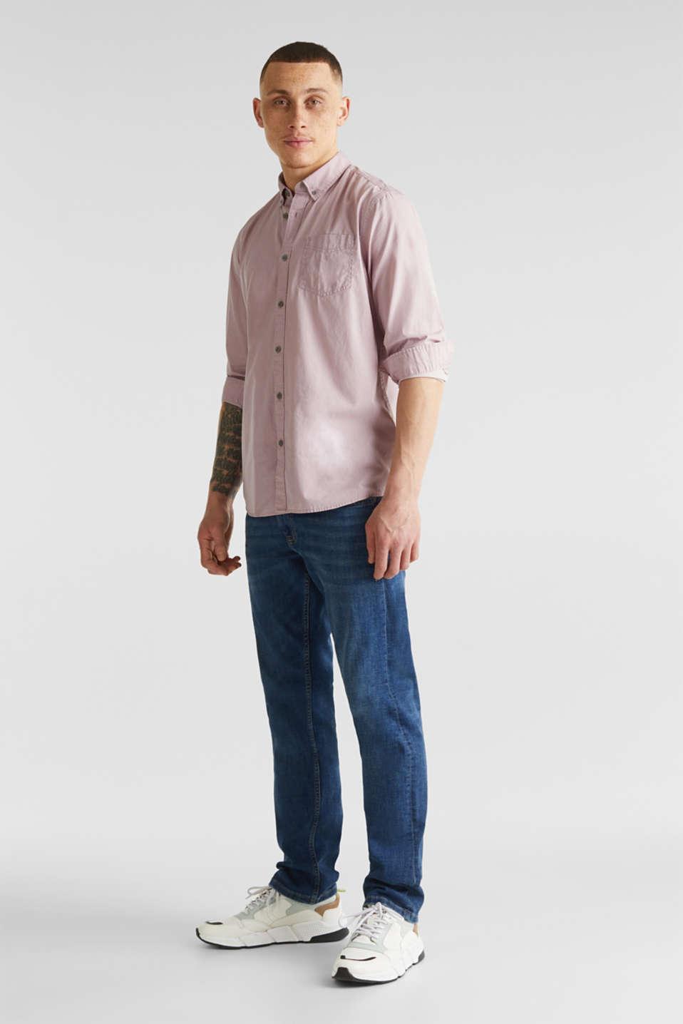 100% cotton shirt, PURPLE 3, detail image number 1