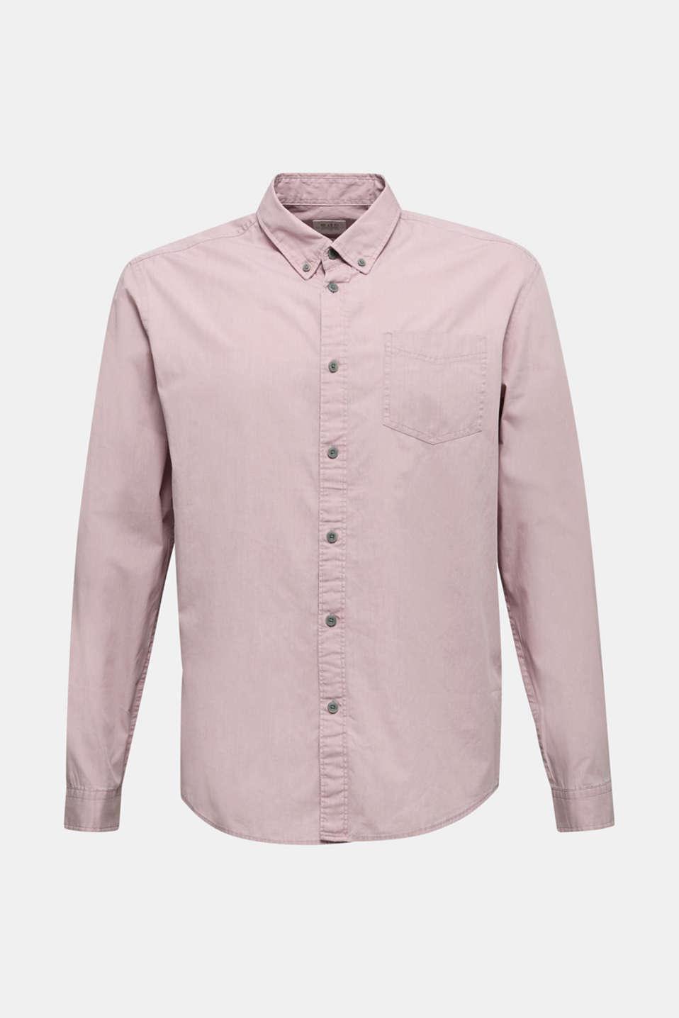 100% cotton shirt, PURPLE 3, detail image number 6