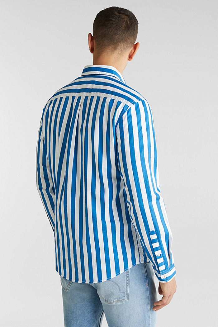 Striped shirt, 100% cotton, BLUE, detail image number 3